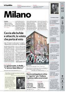 la Repubblica Milano - 27 Febbraio 2018