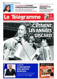 Le Télégramme Ouest Cornouaille – 04 décembre 2020