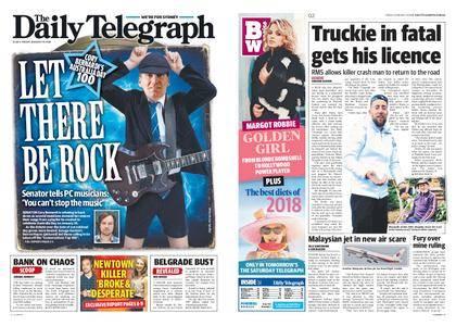The Daily Telegraph (Sydney) – January 19, 2018