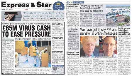 Express and Star City Edition – March 28, 2020