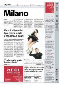 la Repubblica Milano - 23 Marzo 2018