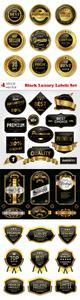 Vectors - Black Luxury Labels Set