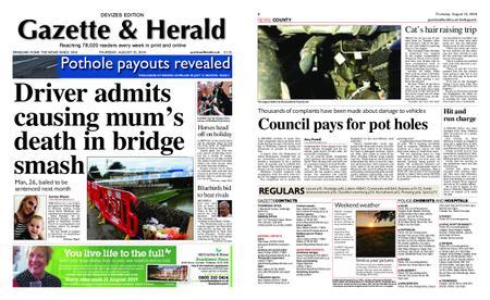 Gazette & Herald – August 15, 2019