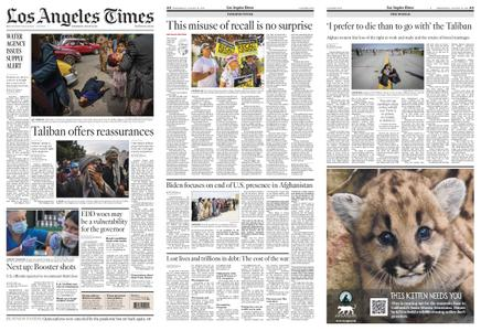 Los Angeles Times – August 18, 2021