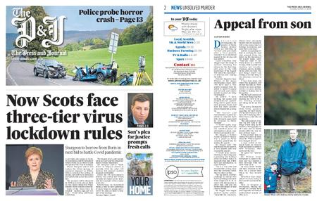 The Press and Journal Moray – October 13, 2020