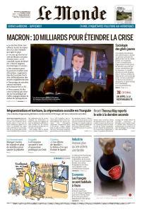 Le Monde du Mercredi 12 Décembre 2018