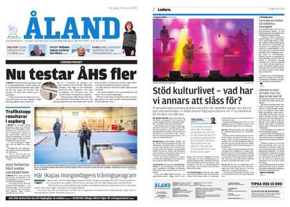 Ålandstidningen – 19 mars 2020