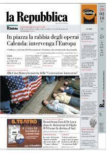 la Repubblica - 20 Febbraio 2018