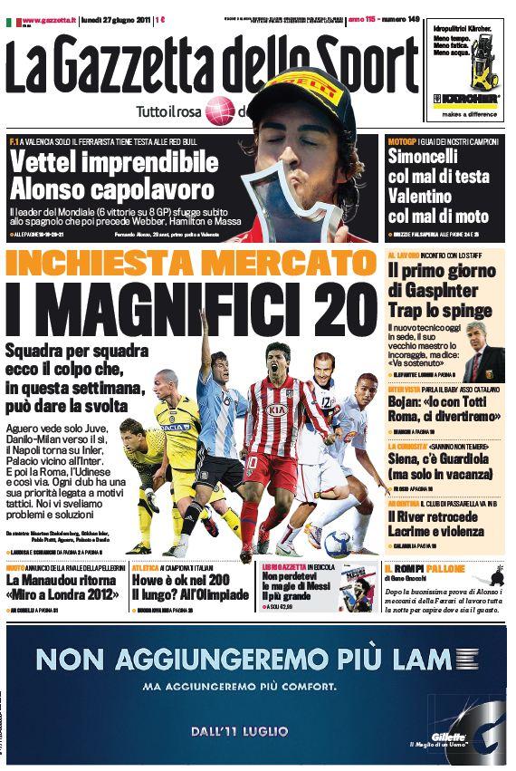 La Gazzetta dello Sport (27-06-11)