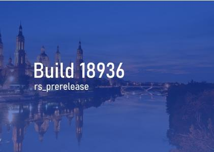 Windows 10 InsiderPreview (20H1) Build 18936.1000