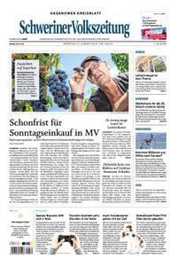 Schweriner Volkszeitung Hagenower Kreisblatt - 21. August 2018