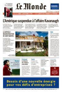 Le Monde du Samedi 29 Septembre 2018