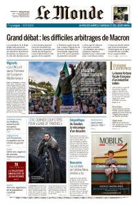 Le Monde du Dimanche 14 et Lundi 15 Avril 2019