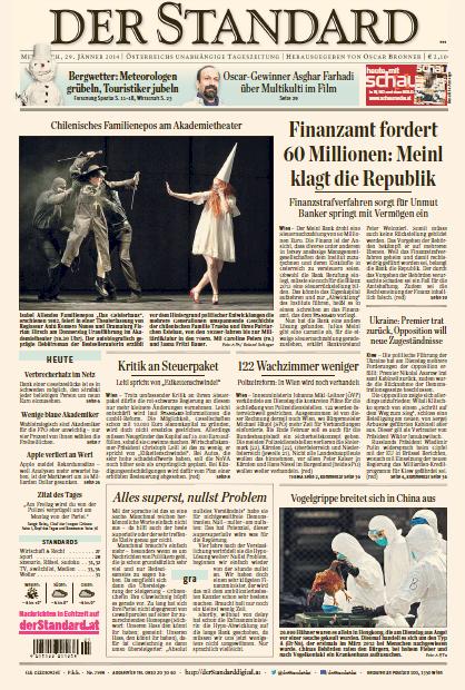 Der Standard, 29. Januar 2014