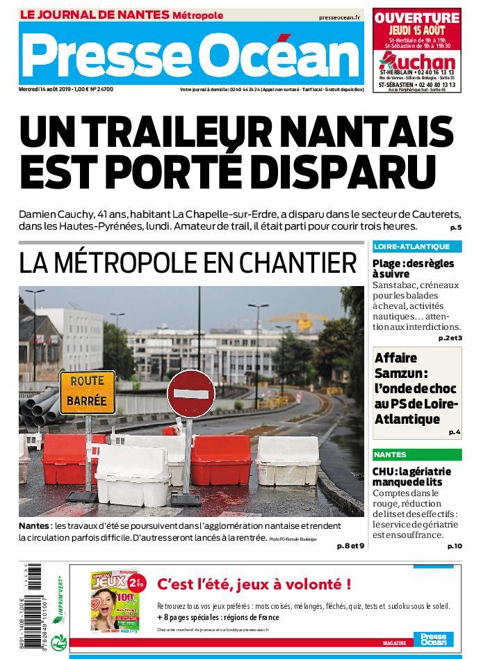 Presse Océan Nantes – 14 août 2019