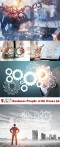 Photos - Business People with Gears 36