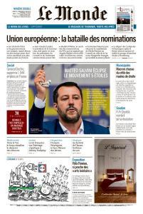 Le Monde du Jeudi 30 et Vendredi 31 Mai 2019