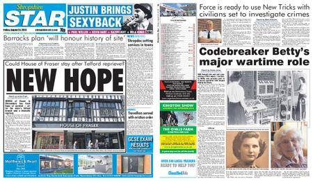 Shropshire Star Shrewsbury Edition – August 24, 2018