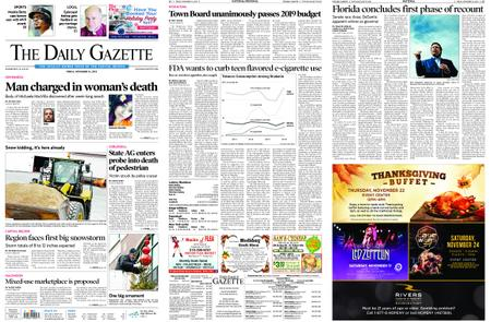 The Daily Gazette – November 16, 2018