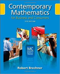 Contemporary Mathematics for Business and Consumers (5th Edition)