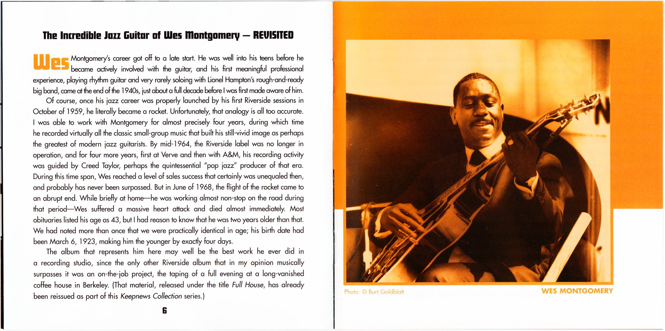 Wes Montgomery - The Incredible Jazz Guitar Of Wes Montgomery (1960) {2008 Keepnews Collection Complete Series} (Item #27of27)