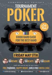 Poker Tournament Premium Flyer PSD TEMPLATE