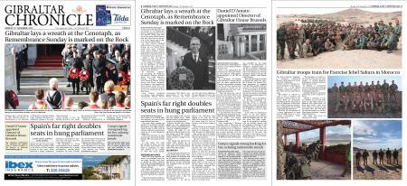 Gibraltar Chronicle – 11 November 2019