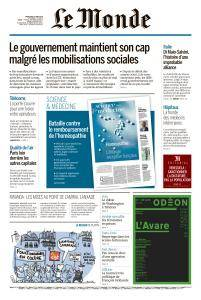 Le Monde du Mercredi 23 Mai 2018