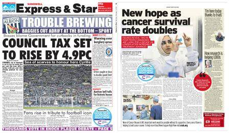 Express and Star Sandwell Edition – February 05, 2018