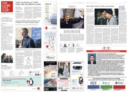 The Globe and Mail – March 23, 2018