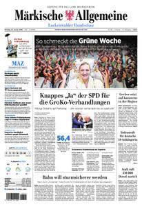 Märkische Allgemeine Luckenwalder Rundschau - 22. Januar 2018