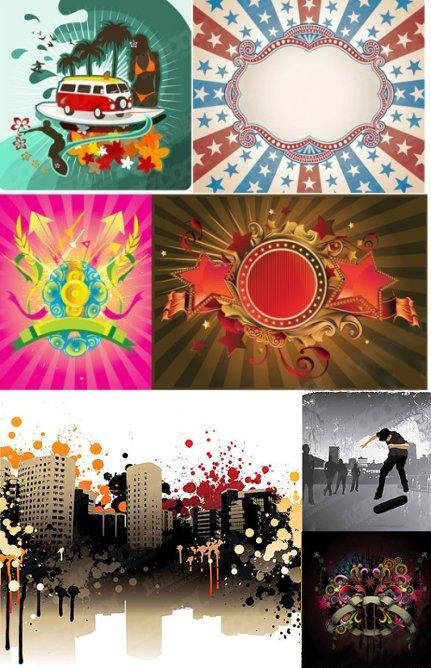 City vector backgrounds