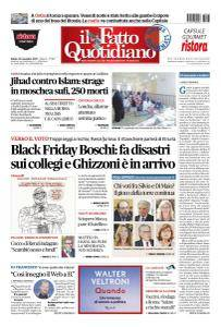 Il Fatto Quotidiano - 25 Novembre 2017
