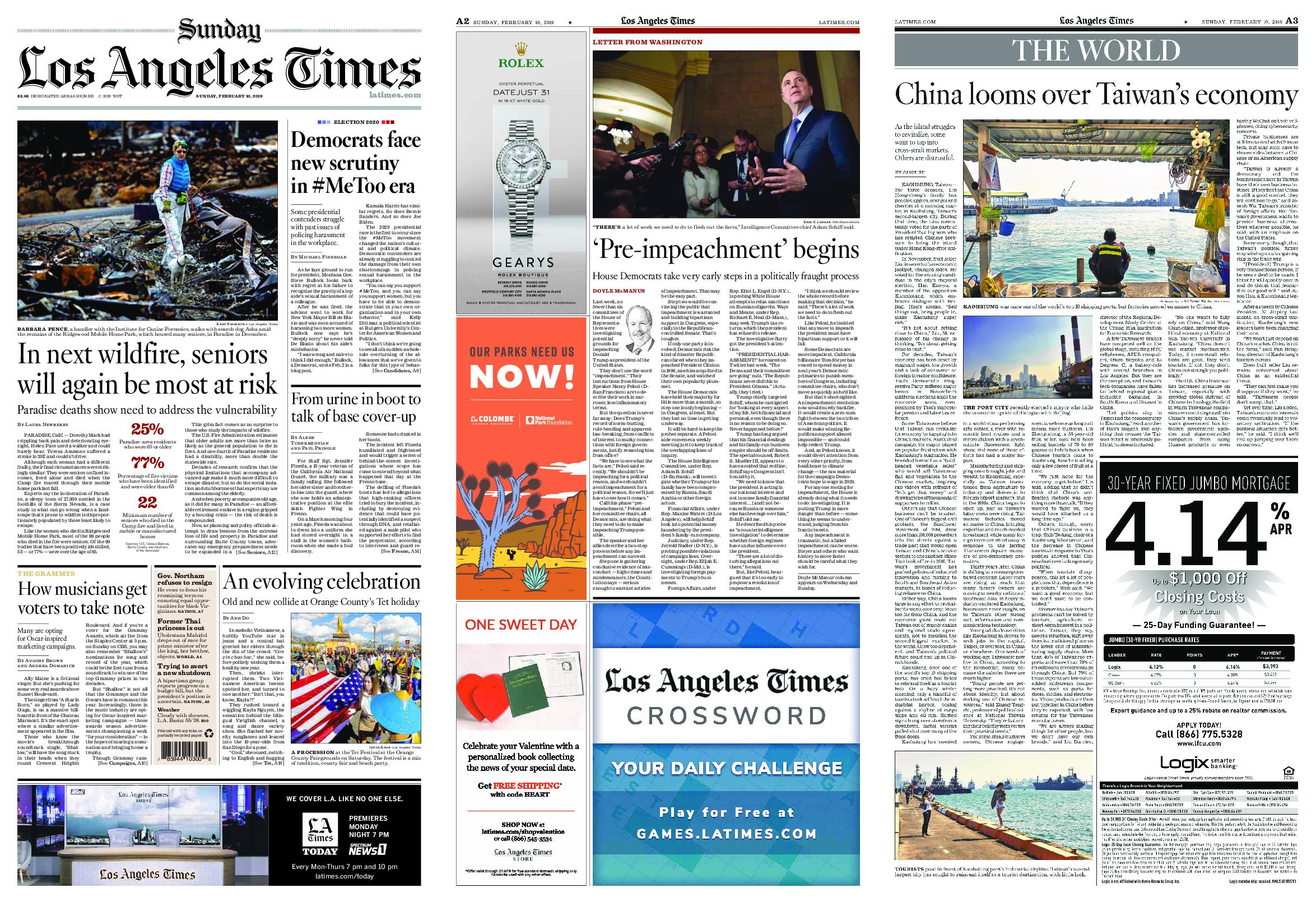 Los Angeles Times – February 10, 2019