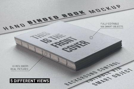 CreativeMarket - Hand Binded Book Mockup