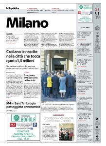 la Repubblica Milano - 21 Gennaio 2019