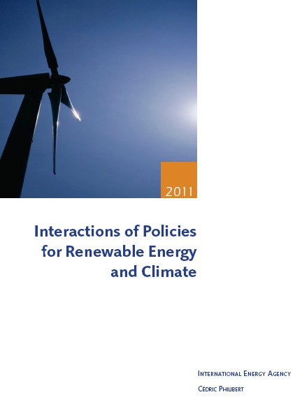 """Interactions of Policies for Renewable Energy and Climate"" by Cédric Philibert"