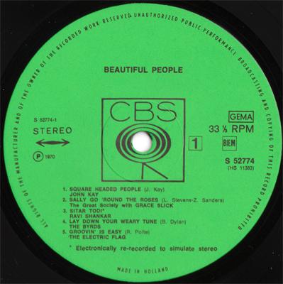 VA - Beautiful People (CBS S 52774) (NL 1970) (Vinyl 24-96)