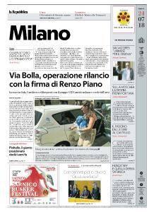 la Repubblica Milano - 24 Luglio 2018