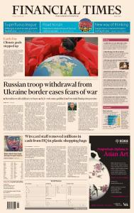 Financial Times Middle East - April 23, 2021