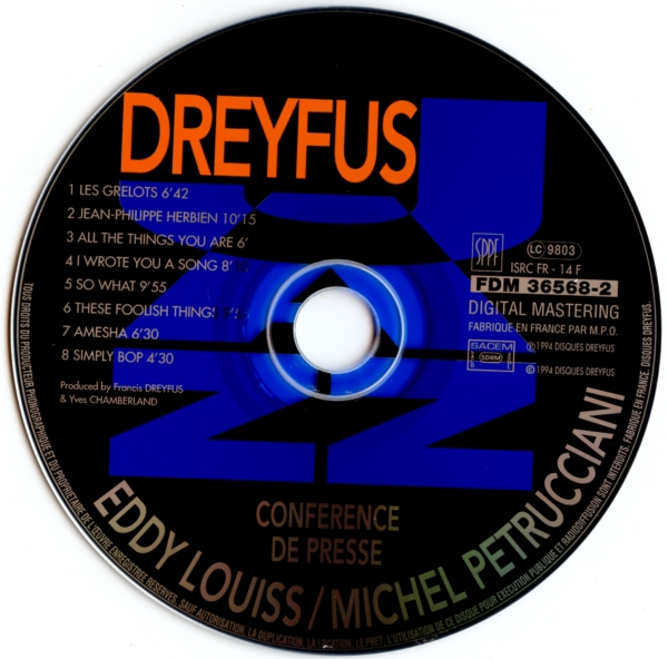 Michel Petrucciani / Eddy Louiss - Conference De Presse Vol. 1 (1994)
