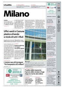 la Repubblica Milano - 17 Agosto 2018
