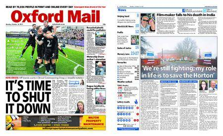 Oxford Mail – October 16, 2017
