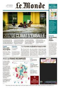 Le Monde du Vendredi 29 Décembre 2017