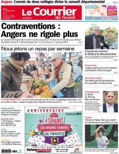 Le Courrier de l'Ouest Angers du Mardi 17 Octobre 2017