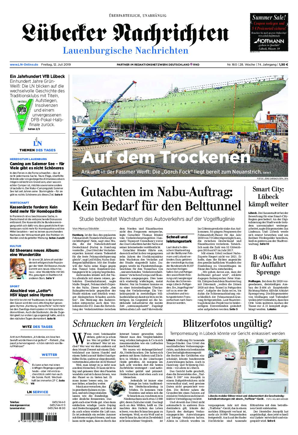 Lübecker Nachrichten Lauenburg - 12. Juli 2019