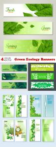 Vectors - Green Ecology Banners