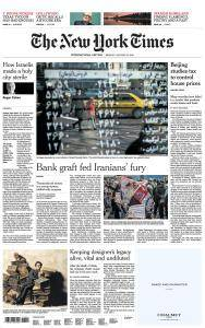 International New York Times - 22 January 2018
