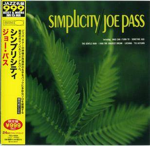 Joe Pass - Simplicity (1967) {2011 Japan 24-bit Remaster} [Jazz Masterpiece Best & More 999 Series]