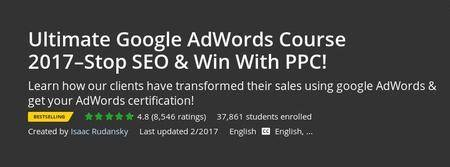 Udemy - Ultimate Google AdWords Course 2017–Stop SEO & Win With PPC! (Repost)